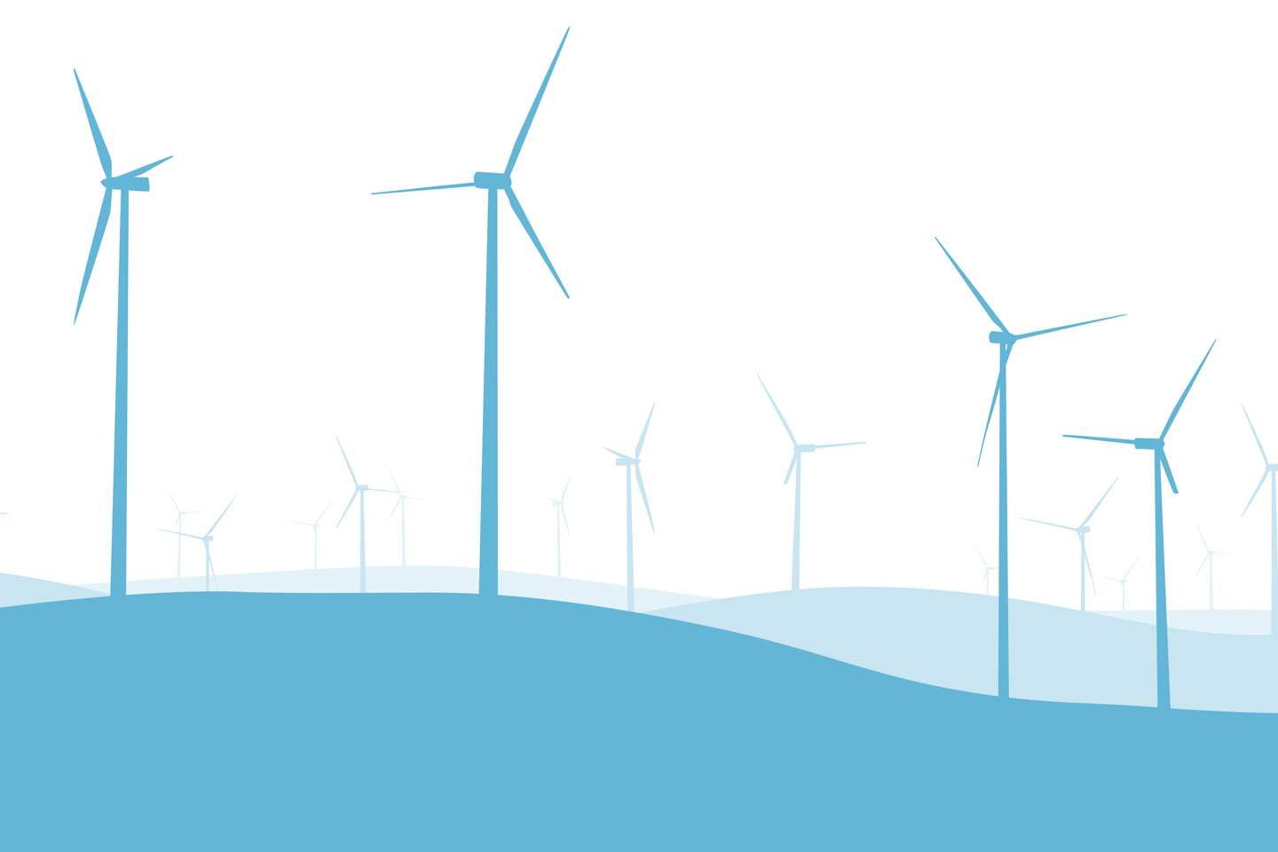 GRaphic illustration of wind turbines